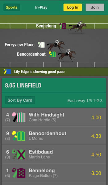 Watch Live Horse Racing Bet365 Mobile