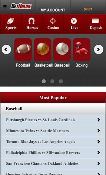 BetOnline U S  Android and iPhone Sportsbook - Android Betting Apps