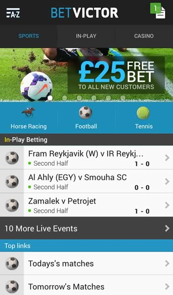 BetVictor Android Bookie