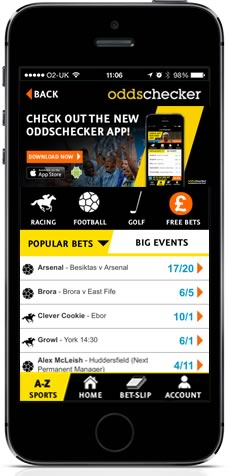 Oddschecker iPhone and Android