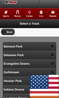 USA mobile horse race gambling